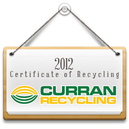 Certificate of Recycling - Curran Recycling